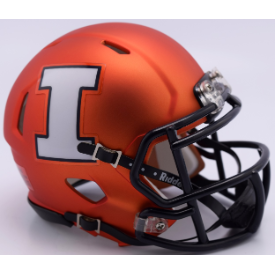 Illinois Fighting Illini Orange Pearl Riddell Speed Mini Football Helmet