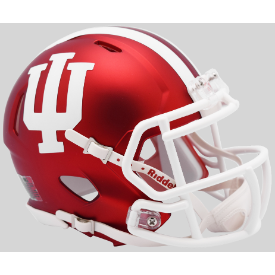 Indiana Hoosiers Anodized Crimson Riddell Speed Mini Football Helmet