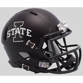 Iowa State Cyclones Matte Black Riddell Speed Mini Football Helmet