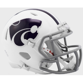 Kansas State Wildcats White Riddell Speed Mini Football Helmet