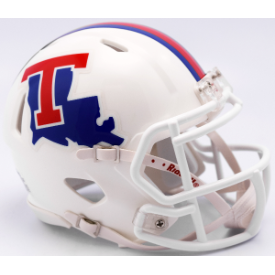 Louisiana Tech Bulldogs White Riddell Speed Mini Football Helmet