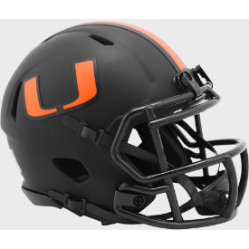 Miami Hurricanes Riddell Speed ECLIPSE Mini Football Helmet
