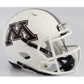 Minnesota Golden Gophers White Riddell Speed Mini Football Helmet
