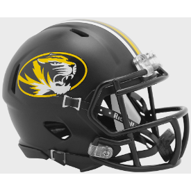 Missouri Tigers Anodized Black Riddell Speed Mini Football Helmet