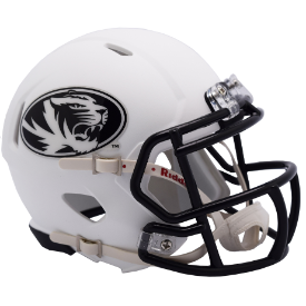 Missouri Tigers White Riddell Speed Mini Football Helmet
