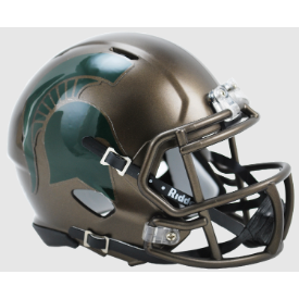 Michigan State Spartans Bronze Riddell Speed Mini Football Helmet
