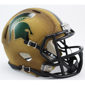 Michigan State Spartans Gold Riddell Speed Mini Football Helmet
