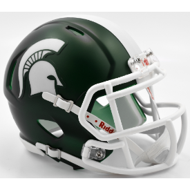 Michigan State Spartans Satin Green Riddell Speed Mini Football Helmet