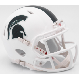 Michigan State Spartans Matte White Riddell Speed Mini Football Helmet