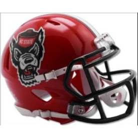 North Carolina State Wolfpack Red Tuffy Riddell Speed Mini Football Helmet