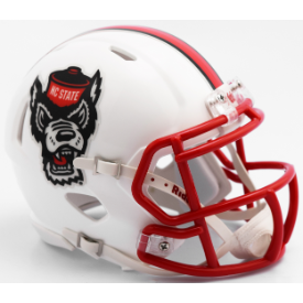 North Carolina State Wolfpack Tuffy Riddell Speed Mini Football Helmet
