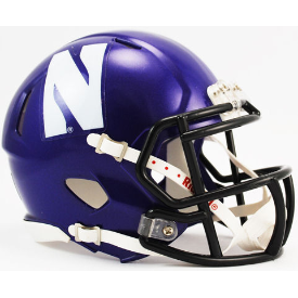 Northwestern Wildcats Riddell Speed Mini Football Helmet