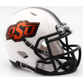 Oklahoma State Cowboys Matte White Riddell Speed Mini Football Helmet