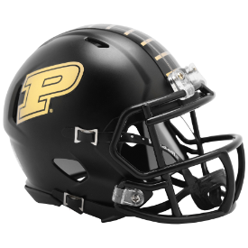 Purdue Boilermakers Anodized Black 2019 Riddell Speed Mini Football Helmet