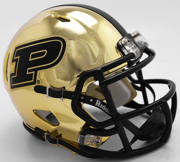 Purdue Boilermakers CHROME Riddell Speed Mini Football Helmet