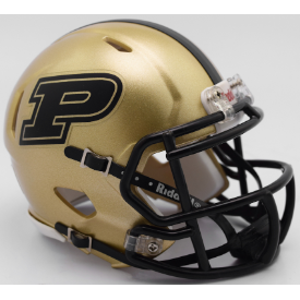 Purdue Boilermakers Motion P Riddell Revolution Speed Mini Football Helmet