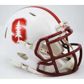 Stanford Cardinal Chrome Decal Riddell Speed Mini Football Helmet