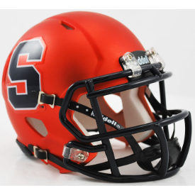 Syracuse Orangemen Satin Orange Riddell Speed Mini Football Helmet