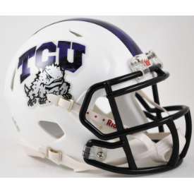 TCU Horned Frogs Frog Skin Riddell Speed Mini Football Helmet