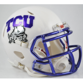 TCU Horned Frogs Chrome Mask Riddell Speed Mini Football Helmet