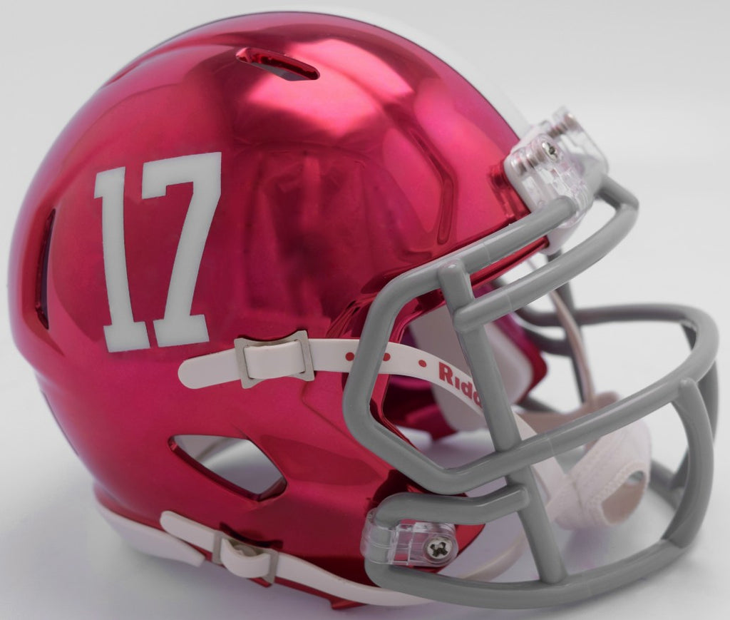 Alabama Crimson Tide CHROME Riddell Speed Mini Football Helmet