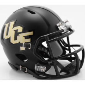 Central Florida Golden Knights Anthracite Riddell Speed Mini Football Helmet