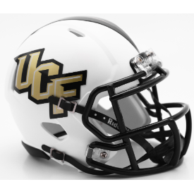 Central Florida Golden Knights Matte White Riddell Speed Mini Football Helmet