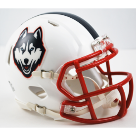 Connecticut Huskies White Husky Riddell Speed Mini Football Helmet