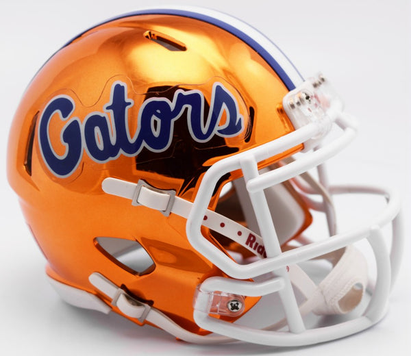 Florida Gators CHROME Riddell Speed Mini Football Helmet
