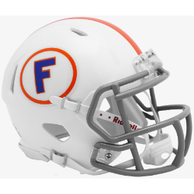 Florida Gators White w/Gray Mask Riddell Speed Mini Football Helmet