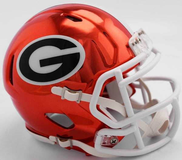 Georgia Bulldogs CHROME Riddell Speed Mini Football Helmet ***PRE ORDER ONLY***