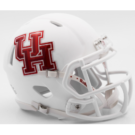 Houston Cougars Matte White Riddell Speed Mini Football Helmet