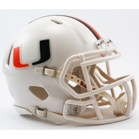Miami Hurricanes Riddell Speed Mini Football Helmet