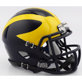 Michigan Wolverines Riddell Speed Mini Football Helmet **UPDATED for 2017**
