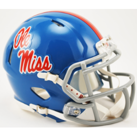 Mississippi (Ole Miss) Rebels Powder Blue Riddell Speed Mini Football Helmet