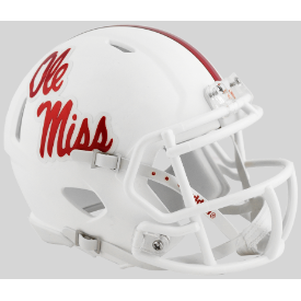 Mississippi (Ole Miss) Rebels White Riddell Speed Mini Football Helmet