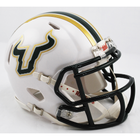 South Florida Bulls White Riddell Speed Mini Football Helmet