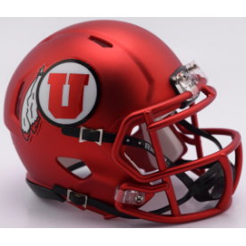 Utah Utes Satin Red Riddell Speed Mini Football Helmet
