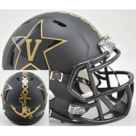 Vanderbilt Commodores Matte Black w/Anchor Riddell Speed Mini Football Helmet