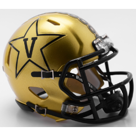 Vanderbilt Commodores New Gold Riddell Speed Mini Football Helmet