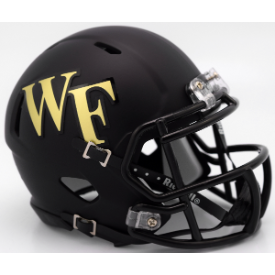 Wake Forest Demon Deacons Matte Black Riddell Speed Mini Football Helmet