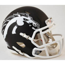 Western Michigan Broncos Matte Brown Riddell Speed Mini Football Helmet