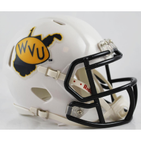 West Virginia Mountaineers White Riddell Speed Mini Football Helmet