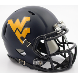 West Virginia Mountaineers Matte Navy Riddell Speed Mini Football Helmet