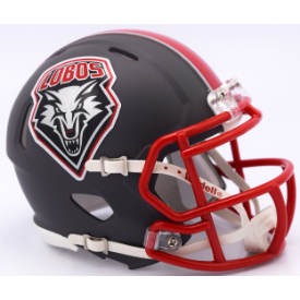 New Mexico Lobos Matte Gray Riddell Speed Mini Football Helmet