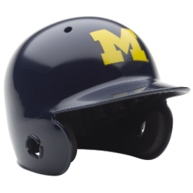 Michigan Wolverines Schutt Mini Batters Helmet