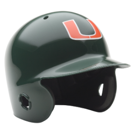Miami Hurricanes Schutt Mini Batters Helmet