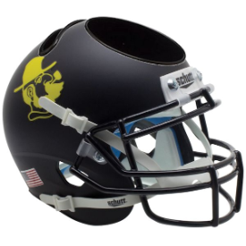 Appalachian State Mountaineers Yosef Black Schutt Mini Football Helmet Desk Caddy