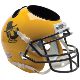 Appalachian State Mountaineers Yosef Yellow Schutt Mini Football Helmet Desk Caddy