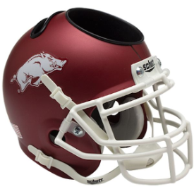 Arkansas Razorbacks Schutt Mini Football Helmet Desk Caddy